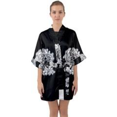 Drawing  Quarter Sleeve Kimono Robe