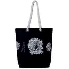 Drawing  Full Print Rope Handle Tote (small)