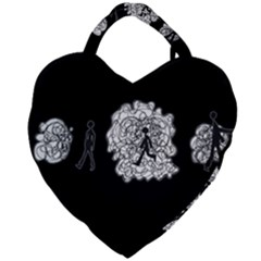 Drawing  Giant Heart Shaped Tote