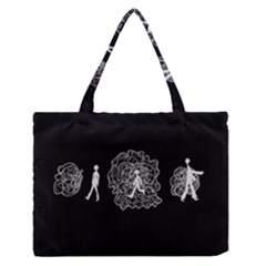 Drawing  Zipper Medium Tote Bag