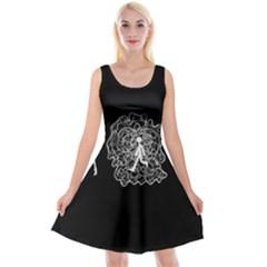 Drawing  Reversible Velvet Sleeveless Dress