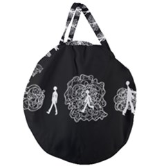 Drawing  Giant Round Zipper Tote