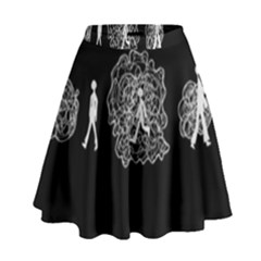 Drawing  High Waist Skirt by ValentinaDesign