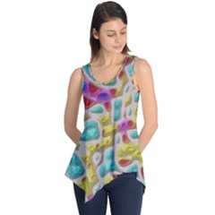 3d Shapes On A Grey Background                                   Sleeveless Tunic