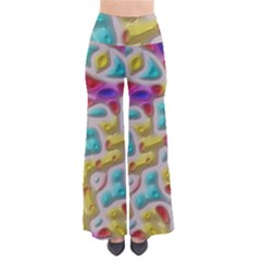 3d Shapes On A Grey Background                             Women s Chic Palazzo Pants