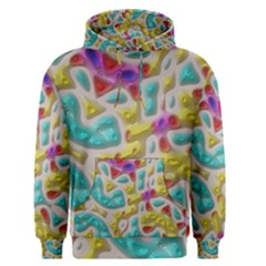 3d Shapes On A Grey Background                                   Men s Pullover Hoodie