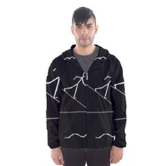 Drawing Hooded Wind Breaker (men)