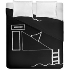 Drawing Duvet Cover Double Side (california King Size)