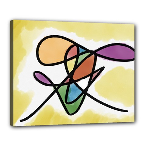 Abstract Art Colorful Canvas 20  X 16