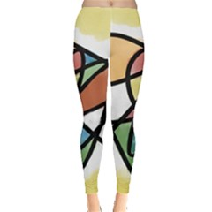Abstract Art Colorful Leggings  by Modern2018