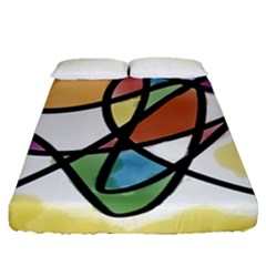 Abstract Art Colorful Fitted Sheet (queen Size)