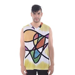 Abstract Art Colorful Men s Basketball Tank Top