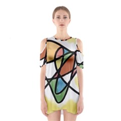 Abstract Art Colorful Shoulder Cutout One Piece by Modern2018