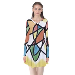 Abstract Art Colorful Flare Dress