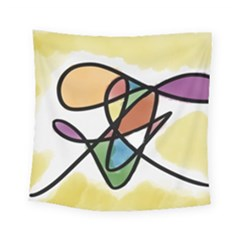 Abstract Art Colorful Square Tapestry (small)