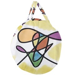 Abstract Art Colorful Giant Round Zipper Tote by Modern2018