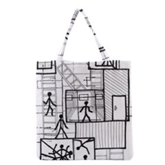 Drawing Grocery Tote Bag