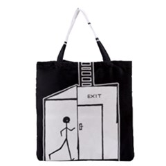 Drawing Grocery Tote Bag by ValentinaDesign