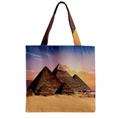 Ancient Archeology Architecture Zipper Grocery Tote Bag