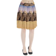 Ancient Archeology Architecture Pleated Skirt