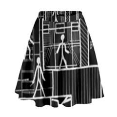 Drawing High Waist Skirt