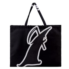 Drawing Zipper Large Tote Bag by ValentinaDesign