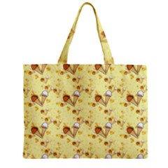 Funny Sunny Ice Cream Cone Cornet Yellow Pattern  Mini Tote Bag by yoursparklingshop