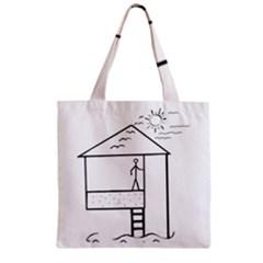 Drawing Zipper Grocery Tote Bag