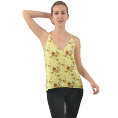 Funny Sunny Ice Cream Cone Cornet Yellow Pattern  Cami