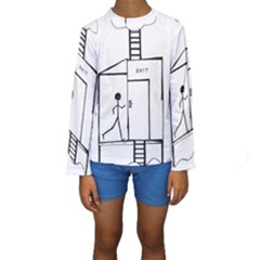 Drawing Kids  Long Sleeve Swimwear