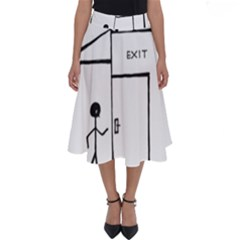 Drawing Perfect Length Midi Skirt