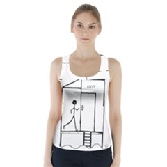 Drawing Racer Back Sports Top