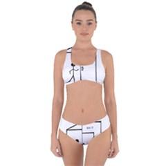 Drawing Criss Cross Bikini Set