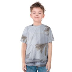 Feather Brown Gray White Natural Photography Elegant Kids  Cotton Tee
