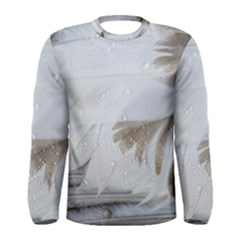 Feather Brown Gray White Natural Photography Elegant Men s Long Sleeve Tee