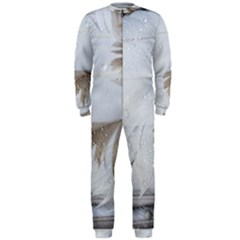 Feather Brown Gray White Natural Photography Elegant Onepiece Jumpsuit (men)