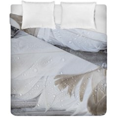 Feather Brown Gray White Natural Photography Elegant Duvet Cover Double Side (california King Size) by yoursparklingshop