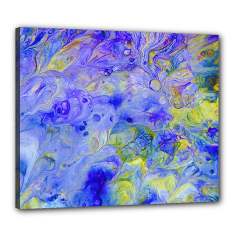 Abstract Blue Texture Pattern Canvas 24  X 20