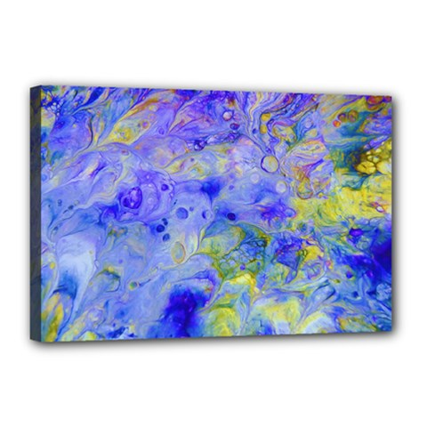 Abstract Blue Texture Pattern Canvas 18  X 12