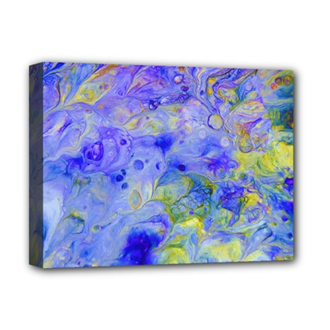 Abstract Blue Texture Pattern Deluxe Canvas 16  X 12
