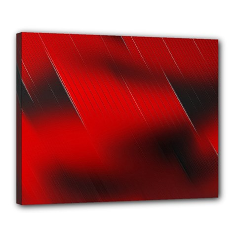 Red Black Abstract Canvas 20  X 16