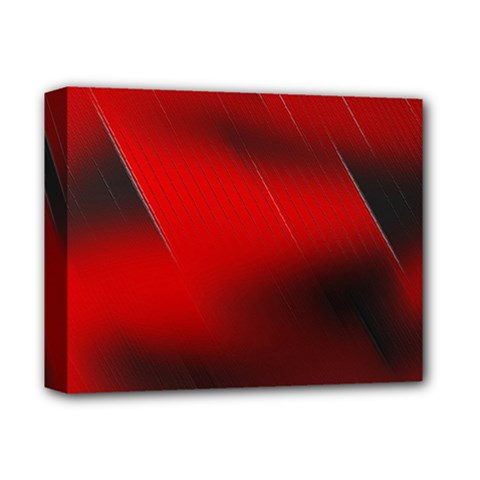Red Black Abstract Deluxe Canvas 14  X 11