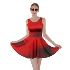 Red Black Abstract Skater Dress