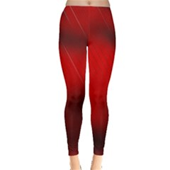 Red Black Abstract Leggings