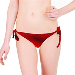 Red Black Abstract Bikini Bottom