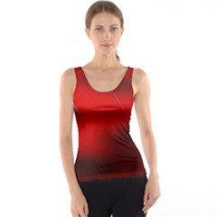 Red Black Abstract Tank Top