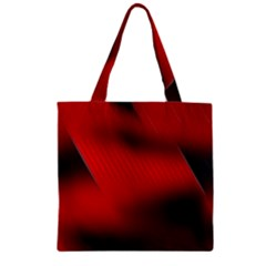 Red Black Abstract Zipper Grocery Tote Bag