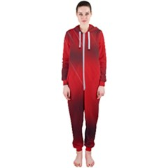 Red Black Abstract Hooded Jumpsuit (ladies)