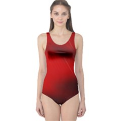 Red Black Abstract One Piece Swimsuit