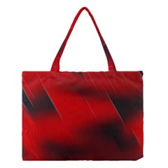 Red Black Abstract Medium Tote Bag
